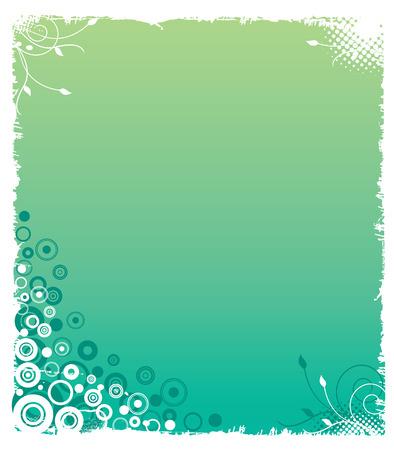 Grunge Greenish Background Vector