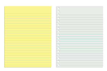 White and Yellow Sheet of Papers