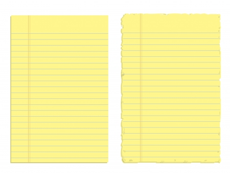Two Sheets of Yellow Paper Vector