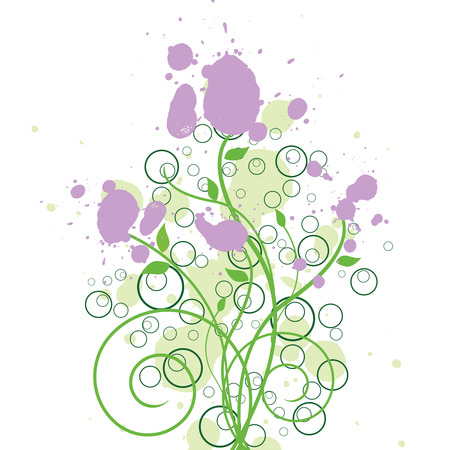 Floral Ink Design Vector