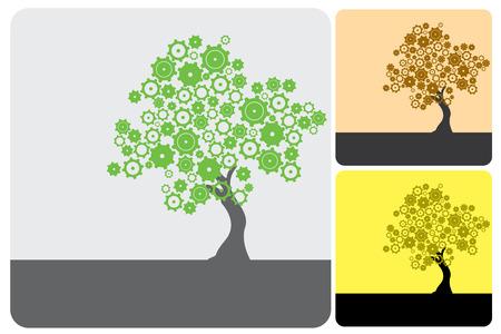 cogs: Verde Industria Vectores