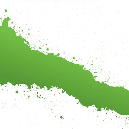 Green Ink Splash