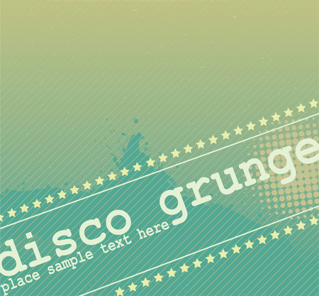 Disco Grunge Banner Design Vector
