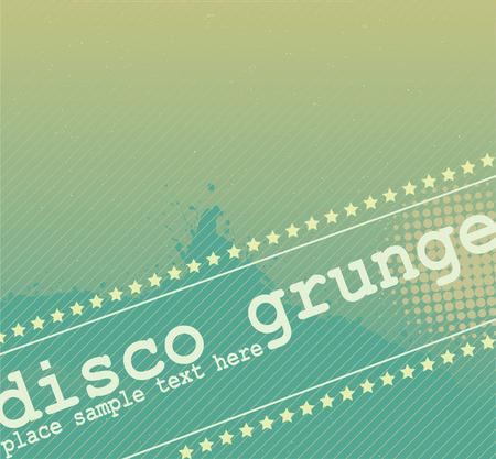 Disco Grunge Banner Design