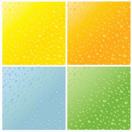 gocce di colore: Set di quattro acqua senza saldatura rugiada scende trama