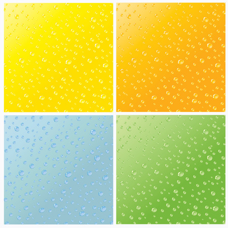 Set of four seamless water dew drops texture Stock Vector - 5054150