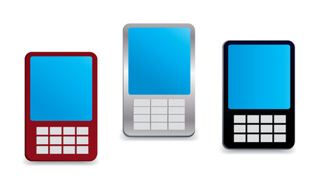 Generic looking vector mobile phones Vector