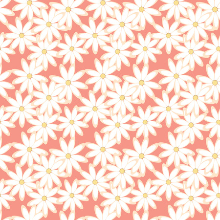 Seamless daisies pattern texture Vector