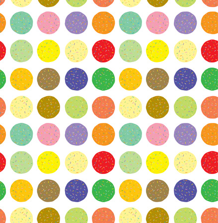 Colorful donut shape candies Vector