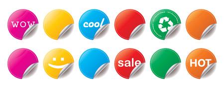 Peeling Stickers Stock Vector - 6144003