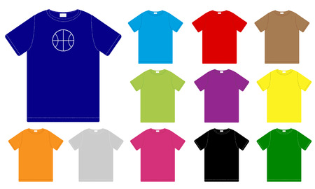 Set of Color T-shirts Stock Vector - 6169248