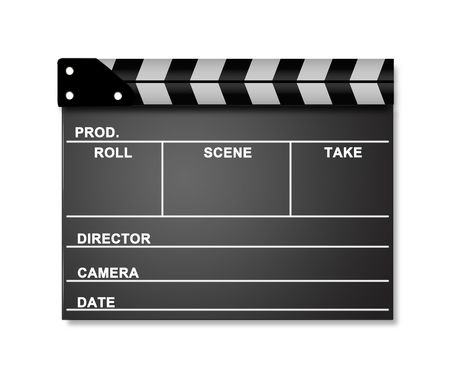 Movie Clapper Stock Photo