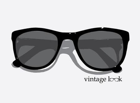 eye wear: Una ilustraci�n de estilo retro desgaste del ojo del vintage Vectores
