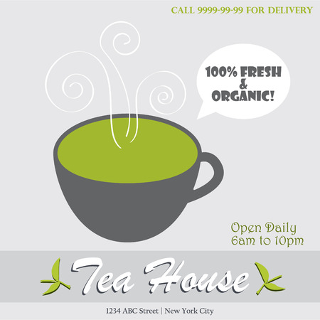 fresh brewed: Tea house infographic