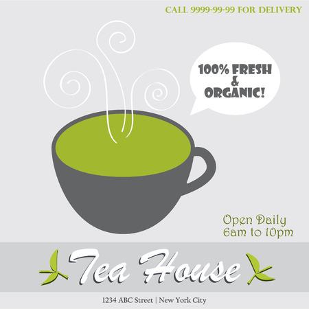 Tea house infographic