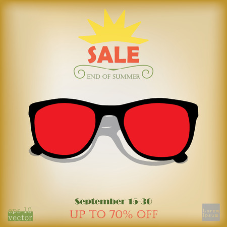 end of summer: End of summer sale advertising Illustration