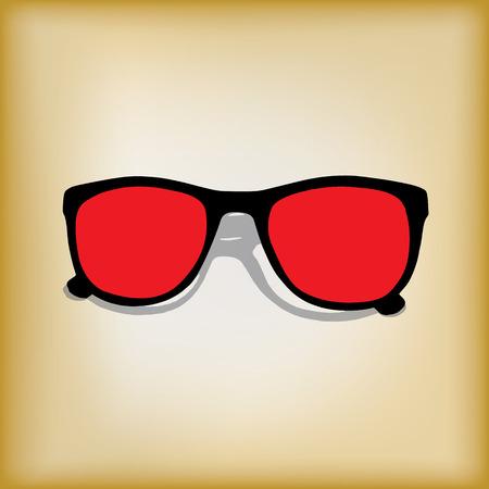 wayfarer: Vintage style background with red frame shades