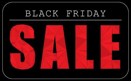 Black Friday Thanksgiving sale advertising text modern polygonal paper texture design element