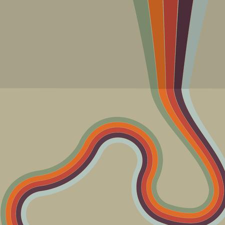 Vintage background retro color themed stripes pattern