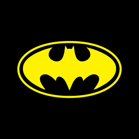 batman: DC comics superhero Batman logo yellow on black background