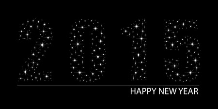 Shimmering bright stars Happy New Year 2015