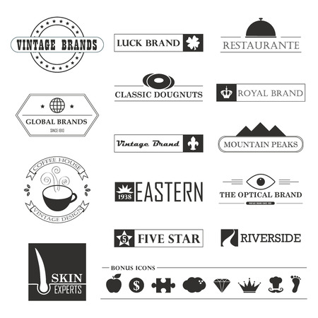 Set of Vintage brands and icon design elements