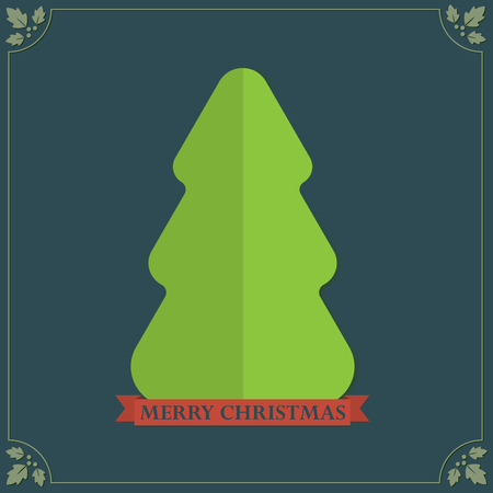 Vintage style folded paper texture Christmas tree holidays greetings Vector