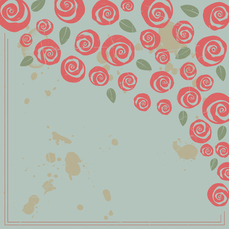 Valentine and wedding border boquet of swirly roses
