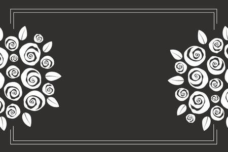 Valentine and wedding themed border boquet of swirly roses
