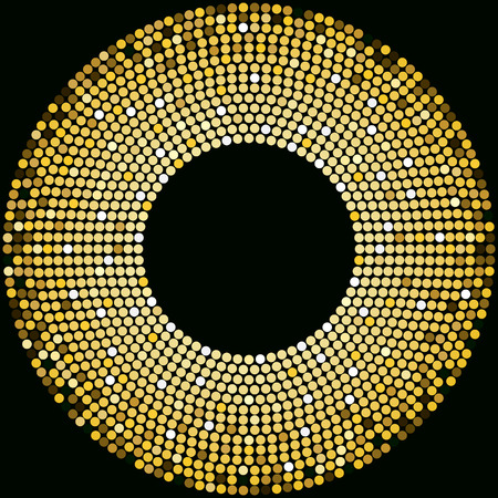 Golden disco balls background design template Иллюстрация