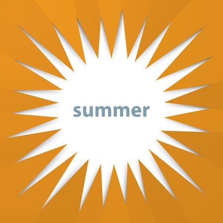 Modern sunburst summer background from hexagonal folded paper texture Иллюстрация