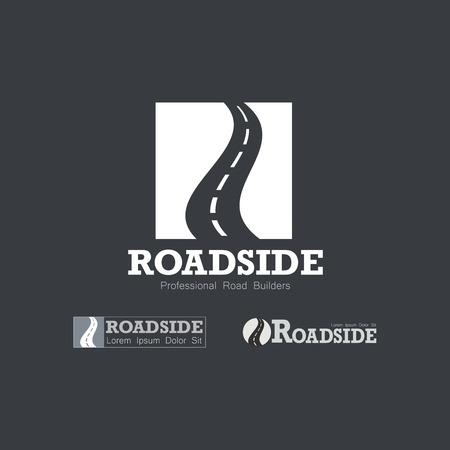 Letter R like Road type.  Travel, transportation, and roadworks related logo design element