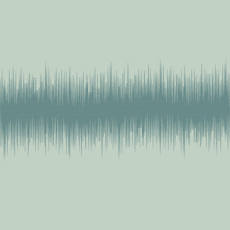 Modern halftone audio waves pattern abstract design element