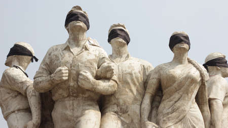 dedicated: The monument dedicated to anti-violence in Dhaka, Bangladesh