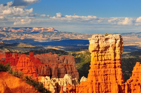 Hoodoo rock formation in Bryce Canyon national park, Utah photo