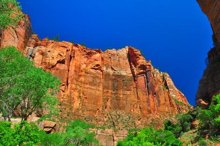 Sheer cliffs at Zion National Park photo