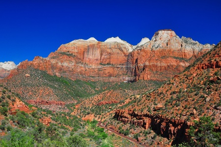 Breathtaking view on the road to Zion National Park. Banco de Imagens - 9362875