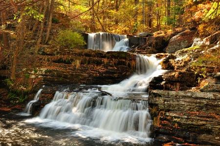 Bovenste valt in Delaware Water Gap