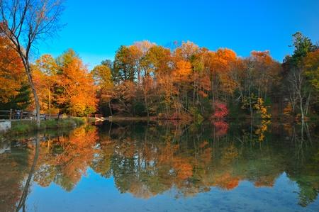 Peak Fall foliage Banco de Imagens