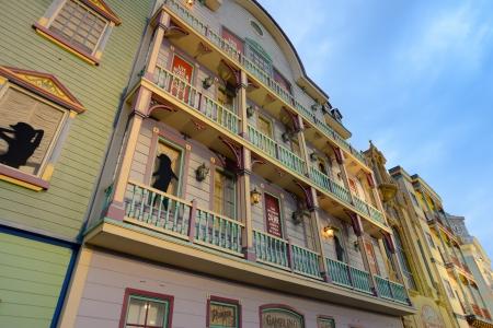 atlantic city: Retro antique building facade on Atlantic City boardwalk Editorial