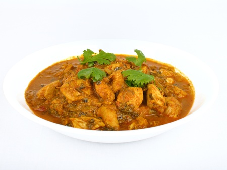 curry: Bowl of traditional Indian chicken curry Stock Photo
