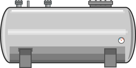 Steel Fuel Tank Vector