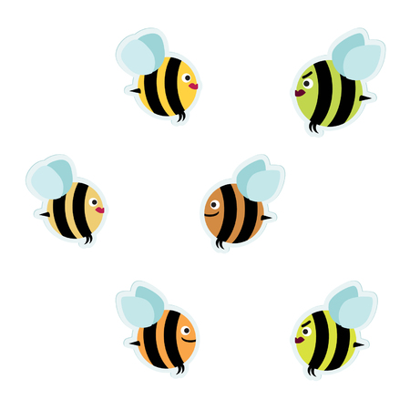 Bees - vector illustration