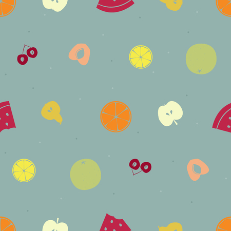 Diverse vruchten vector naadloze achtergrond Stock Illustratie