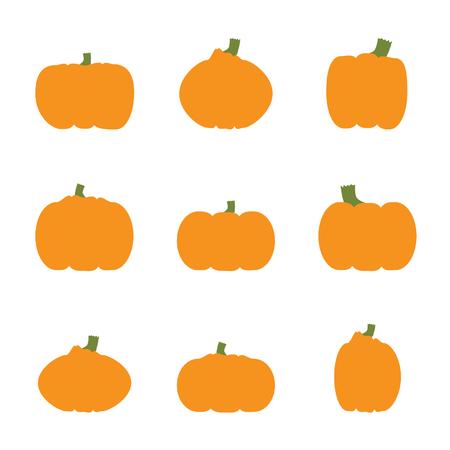 Set of pumpkins - vector illustration