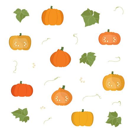 Pumpkins - vector illustration Ilustrace