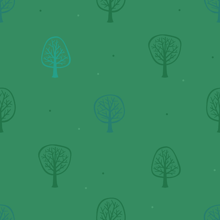 Green and blue trees - vector background Illustration