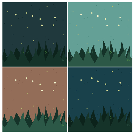 dipper: Set of backgrounds with Big Dipper constellation