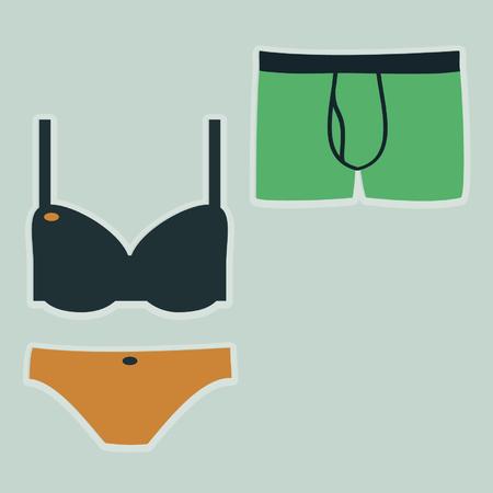 Underwear illustration Illustration