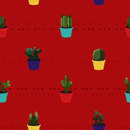 horticultural: Various cacti flowers - vector background